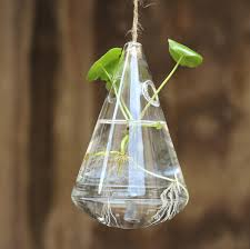 hanging water drop shaped glass hydroponics flower vase home garden wedding party decoration cod