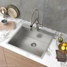zero radius 25 inch handmade topmount single bowl 16 gauge stainless steel drop