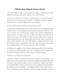 "child sex abuse an essay giving a concern it deserves child sex abuse giving the concern it deserves ""the abuser s desire to abuse is"