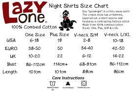 Lazy One Size Chart Lazyone Womens Na Moose Te
