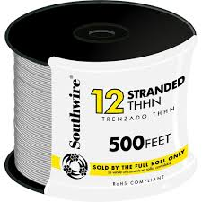 southwire 500 ft 12 white stranded cu thhn wire 22965858 the home 12 white stranded cu thhn wire
