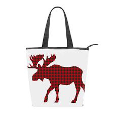 Moose Design Bags Amazon Com Womens Canvas Zipper Closure Handbag Beautiful