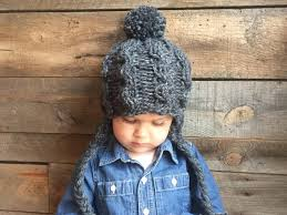 Child Knit Hat Pattern Awesome Cable Knit Hat Pattern Earflap Hat Pattern Kids Knit Hat Etsy