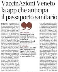 VaccinAzioni Veneto la app che anticipa il passaporto sanitario