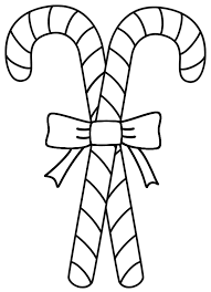 Small Picture Two Candy Canes Coloring Page Christmas