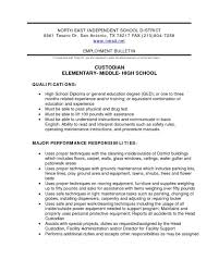 Custodian Resume Sample Nardellidesign At For All Resume For