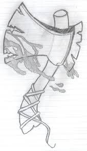 hatchetman designs art hatchet drawing image