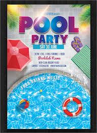 33 Printable Pool Party Invitations Psd Ai Eps Word