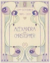 Art Deco Cross Stitch Charts Amazon Com Derwentwater Designs Mackintosh Wedding