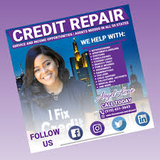 Create Business Flyer I Will Create Credit Repair Flyer Business Flyer On Wacom
