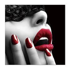 Vícedílný Obraz Portrét Glamour červené Rty Na Zeď Na Posterscz