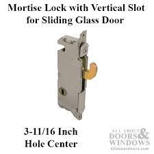 common mortise lock vertical slot metal sliding patio doors w f style