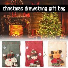 Linen <b>Drawstring Gift</b> Bag Large Candy Cartoon Apple for <b>Christmas</b> ...
