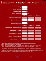 Prefresh Pen Size Calculator Food Animal Production Medicine