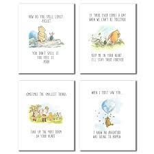 Winnie The Pooh Classic Art Prints Set Of Four 8x10 Set Of Four