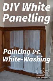 Have you ever contemplated painting vs. whitewashing panelling or brick?  Maybe you've done it before and you have a few handy tips to share?