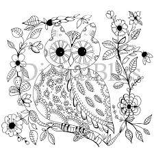 Volwassen Kleuren Downloaden Grillige Owl Volwassen Etsy
