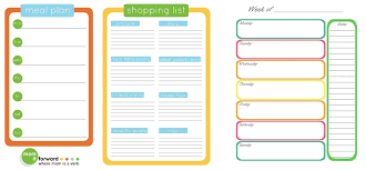 shopping list by department meal planning and making the grocery list glutenfreelady nl