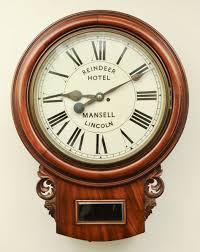 large twin fusee mahogany dial clock 18 dial