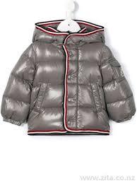Abelard  padded coat - Kids Clothing - Moncler - Grey Baby Coats 301676810