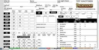 character sheet pathfinder pathfinder excel character sheet 1 like printable designbusiness info