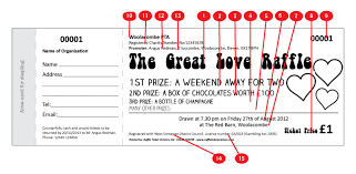 valentine love raffle ticket raffle ticket printers valentines design raffle ticket