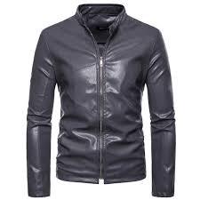 black leather jacket men leather suede jacket fashion autumn motorcycle male winter er jackets outerwear faux