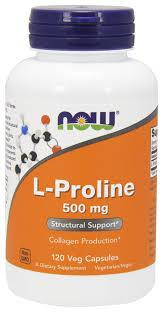 Пролин, <b>L</b>-<b>Proline</b>, Now Foods, <b>500 мг</b>, 120 капсул - в онлайн ...