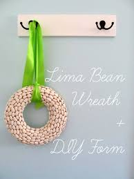 Lima Bean Wreath + DIY Wreath Form