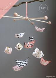 Paper Boats DIY Mobile