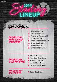 the projected line up for the 2019 washington nationals yahoo sports