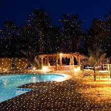 landscape lighting trees. white laser moving night stars landscape lighting trees r