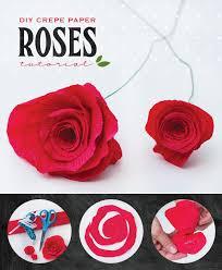 diy crepe paper roses tutorial by hwtm
