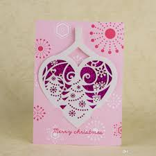 Creative Christmas Cards 2016 Creative Sequins Merry Christmas Card Pink Laser Cutting 3d