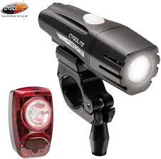 Cygolite Metro 400 Lumen Hotshot 2w Lumen Usb Rechargeable Bicycle Light Combo Set
