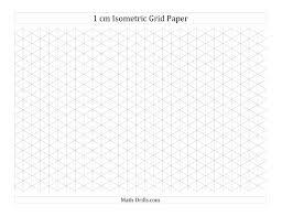 1 Cm Isometric Grid Paper Landscape A