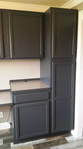 gray paint colors for kitchen cabinets new finished cabinets painted in behr ed pepper pictures