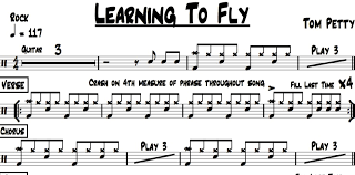 Learning To Fly Tom Petty Drum Chart Quickgigcharts