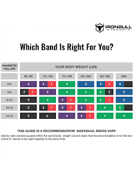 Pull Up Band Assistance Chart Monster Bands Pull Up Assist Resistance Bands Iron Bull
