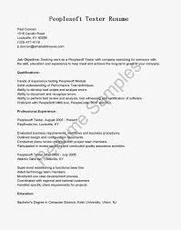 Peoplesoft Tester Cover Letter Samples Of Summary Of