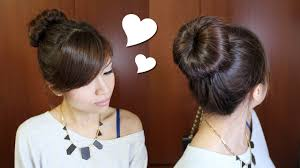 Different Bun Hairstyles Everyday Perfect Bun Updo Hairstyle For Medium Long Hair Tutorial
