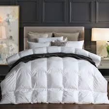 details about new goose down comforter all season duvet insert corner tabs 100 cotton 1200tc