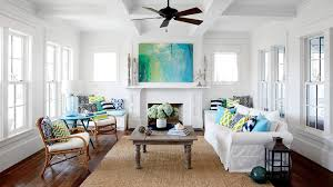 Walls In This Sunny Gulf Coast Living Room Are Painted Vanilla Milkshake By  Benjamin Moore,