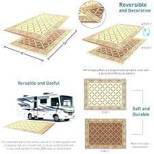 patio mats for camping reversible indoor outdoor mat carpet picnic deck rug pad rv mattress world