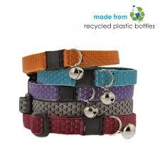 lupinepet breakaway safety cat collar in eco colors made from recycled plastic bottles
