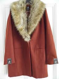 rust faux fur collar coat 28 p1000994 p1000995