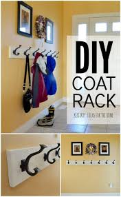 Do It Yourself Coat Rack Coat Rack An Easy WallMounted Idea With Hooks 33