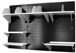 Wall Control Black Panel Home & Office Wall Organizer Kit 10OFC300B