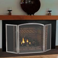 pilgrim 54 x 30 stainless steel newport tri panel fireplace screen
