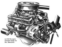la chrysler small block v8 engines la 318 v8